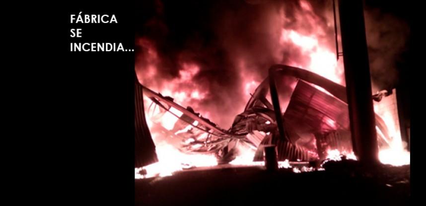 Fábrica de colchones se incendia en Tala
