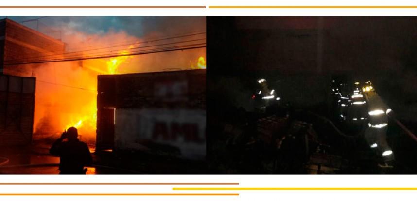 Incendio en bodega de Iztapalapa; no hay heridos.