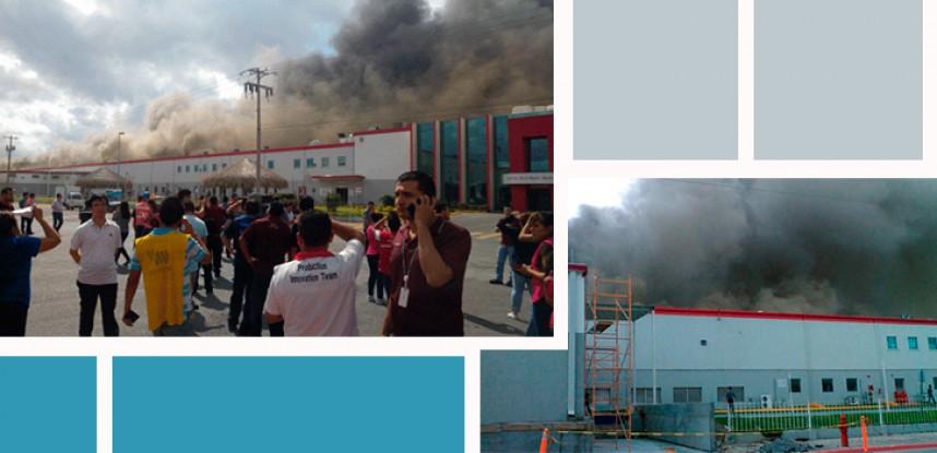 Evacuan a trabajadores por incendio en planta de LG en NL