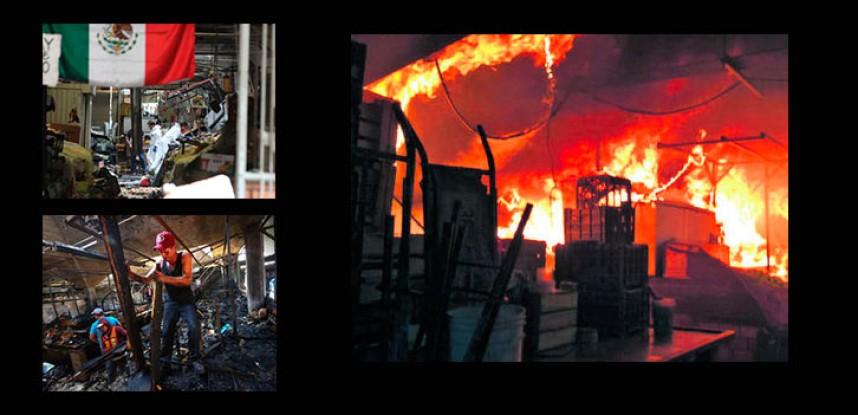Incendio en Mercado Alcalde, sin victimas, sólo daños a locales.